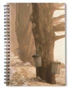 Sap Buckets. Underhill, Vermont Spiral Notebook