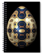 Sapphire And Gold Imperial Easter Egg Spiral Notebook