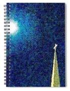Sapphire Moon Glow Spiral Notebook