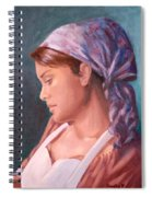 Sarah The Kitchen Maid  After Johnnie Liliedahl Spiral Notebook