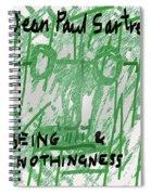 Sartre Poster Jp  Spiral Notebook