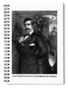 Satan Tempting John Wilkes Booth Spiral Notebook