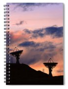 Satellite Sunset Spiral Notebook