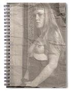 Satie Seeking Antique Style Spiral Notebook