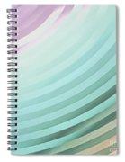 Satin Movements Sky Blue Spiral Notebook