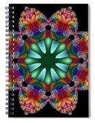 Satin Rainbow Fractal Flower II Spiral Notebook