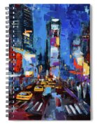 Saturday Night In Times Square Spiral Notebook