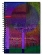 Saturn Abstract Spiral Notebook