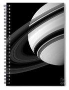Saturn And Tethys Spiral Notebook