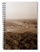 Saugatuck Michigan Harbor Aerial Photograph Spiral Notebook