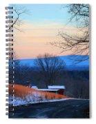Sauratown View In Winter Spiral Notebook