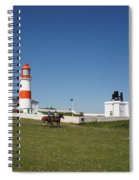 Souter Lighthouse And Foghorn. Spiral Notebook