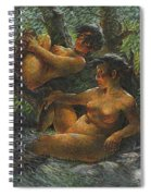 Savage Oil Painting Naked Female Spiral Notebook