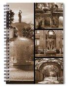 Savannah Landmarks In Sepia Spiral Notebook
