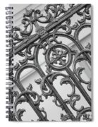 Savannah Pattern Black And White Spiral Notebook