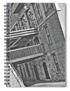 Savannah River Walk Stories Black And White Spiral Notebook