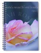 Savannah Rose 3 Spiral Notebook