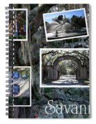 Savannah Scenes Collage Spiral Notebook