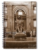 Savannah Sepia - Cotton Exchange Building Spiral Notebook