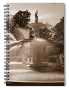 Savannah Sepia - Forsyth Fountain Spiral Notebook
