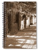 Savannah Sepia - Sunny Sidewalk Spiral Notebook