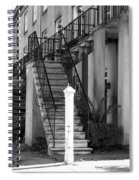 Savannah Steps Black And White Spiral Notebook