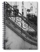 Savannah Stoops - Black And White Spiral Notebook
