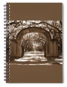 Savannaha Sepia - Wormsloe Plantation Gate Spiral Notebook