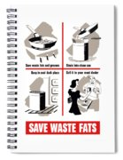 Save Waste Fats - Ww2  Spiral Notebook