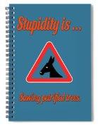 Sawing Bigstock Donkey 171252860 Spiral Notebook
