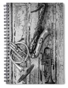 Sax French Horn And Trumpet Spiral Notebook