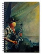 Sax Player Spiral Notebook