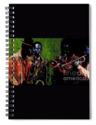 Saxophon Players. Spiral Notebook
