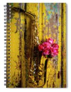 Saxophone And Roses On Wall Spiral Notebook