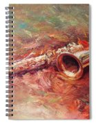 Saxophone Spiral Notebook