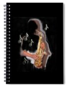Saxophone Player Abstract  Spiral Notebook