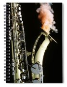 Saxophone With Smoke Spiral Notebook