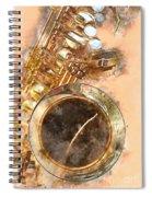Saxy Sax Spiral Notebook