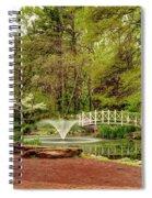 Sayen Gardens Bridge Series Spiral Notebook