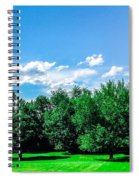 Saying Good Bye To Spring Spiral Notebook