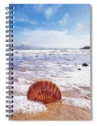 Scallop Shell On The Beach - Impressions Spiral Notebook
