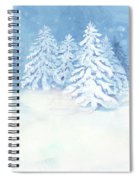 Scandinavian Winter Snowy Trees Hygge Spiral Notebook