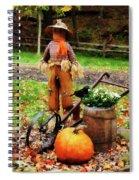 Scarecrow And Pumpkin Spiral Notebook