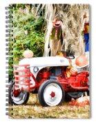 Scarecrow And Pumpkins 2 Spiral Notebook