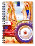 Scarecrow And Pumpkins Spiral Notebook