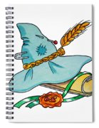 Scarecrow Hat From Wizard Of Oz Spiral Notebook