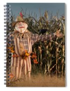 Scarecrow In A Corn Field Spiral Notebook