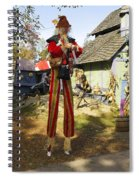 Scarecrow Walking On Stilts Spiral Notebook
