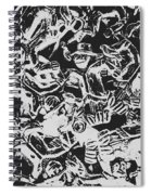 Scarecrows From All Hallows Way Spiral Notebook
