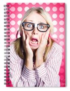 Scared Goofy Business Person Expressing Fear Spiral Notebook